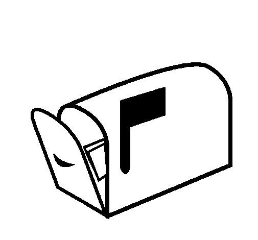 Desenho de Caixa de correio para Colorir