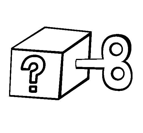 Desenho de Caixa surpresa para Colorir
