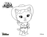 Desenho de Callie no Oeste para colorear