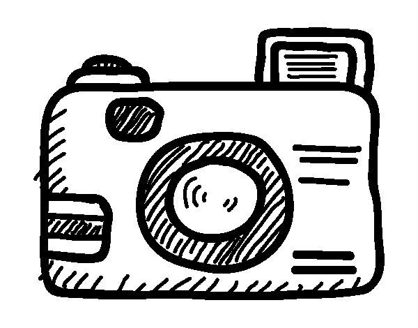 Desenho de Câmera reflex para Colorir