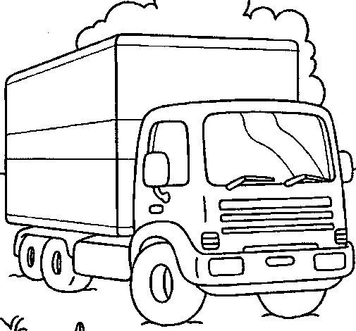 Desenho de Camião 3 para Colorir