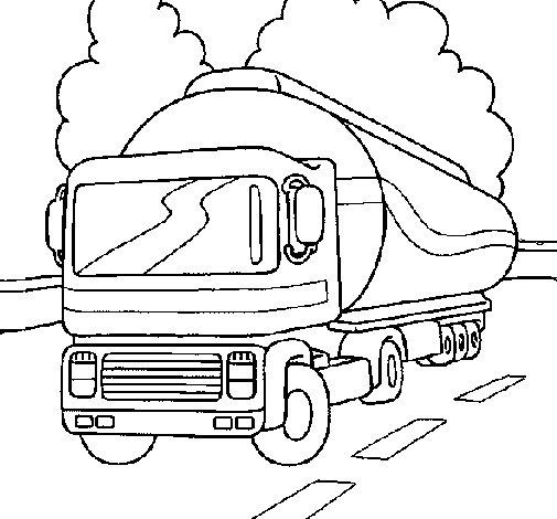 Desenho de Camião cisterna para Colorir
