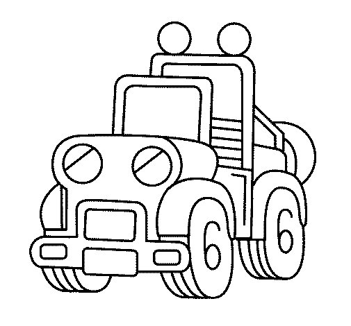 Desenho de Camião para Colorir