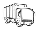 Desenho de Caminhão de mercadoria para colorear