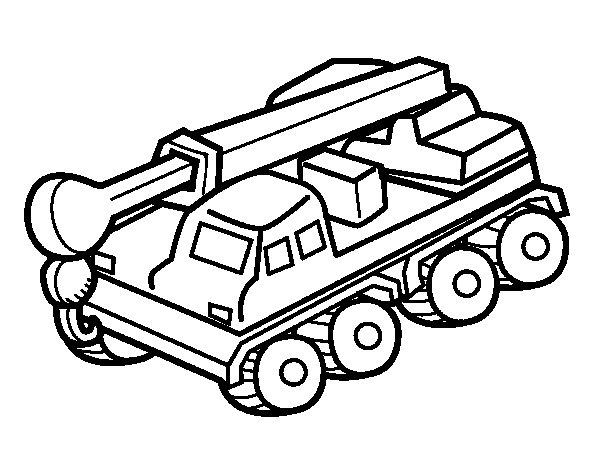 Desenho de Caminhão guindaste para Colorir