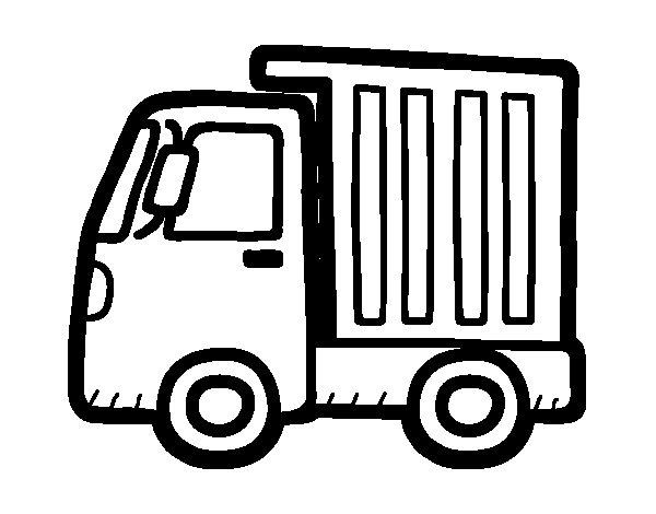 Desenho de Caminhão pequeno para Colorir