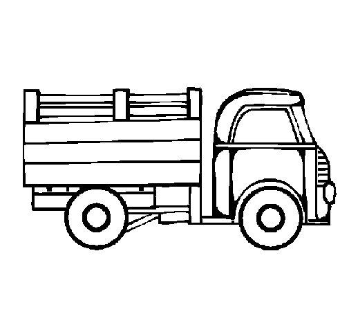 Desenho de Camioneta para Colorir