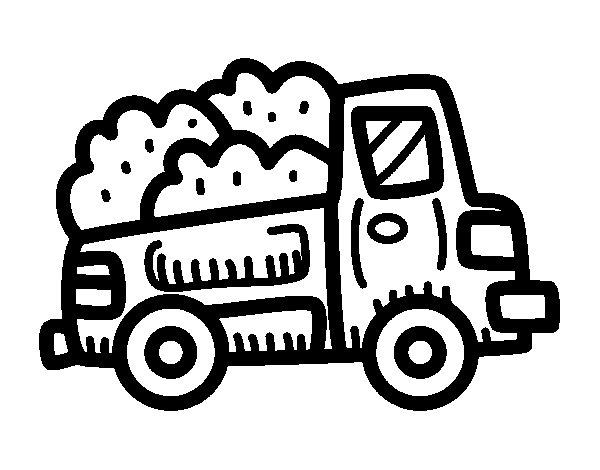 Desenho de Camioneta construção para Colorir