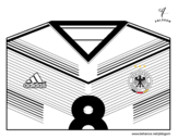 Desenho de Camisa da copa do mundo de futebol 2014 da Alemanha para colorear