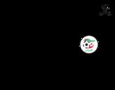 Desenho de Camisa da copa do mundo de futebol 2014 da Argélia para colorear