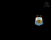 Desenho de Camisa da copa do mundo de futebol 2014 da Argentina para colorear