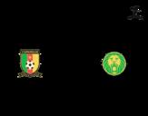 Desenho de Camisa da copa do mundo de futebol 2014 do Camarões para colorear