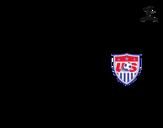 Desenho de Camisa da copa do mundo de futebol 2014 dos Estados Unidos para colorear