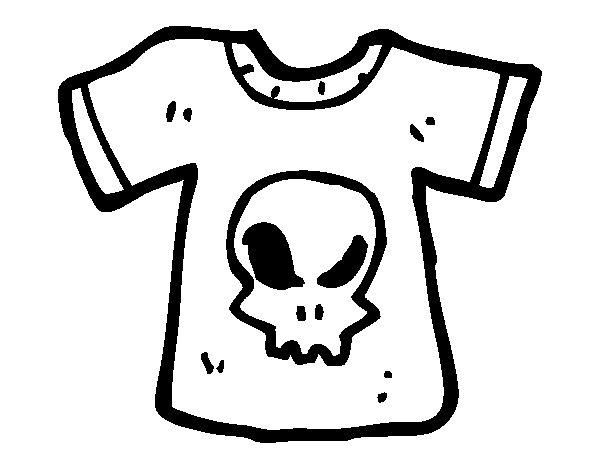 Desenho de Camiseta emo para Colorir