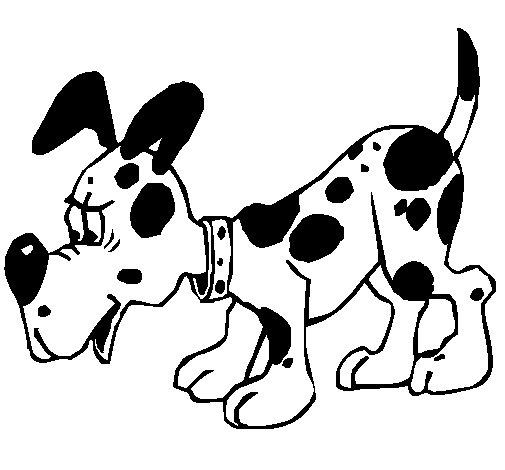 Desenho de Cão 5a para Colorir