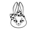 Desenho de Cara de coelhita para colorear