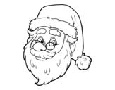Desenho de Cara de Santa Claus para colorear