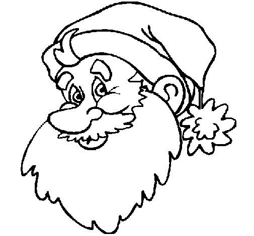 Desenho de Cara do Pai Natal para Colorir