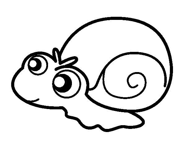 Desenho de Caracol bebé para Colorir