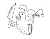Desenho de Carne de frango para colorear