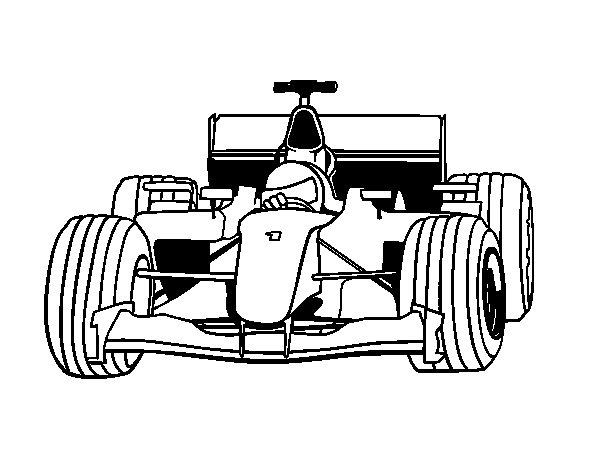 Desenho de Carro de F1 para Colorir