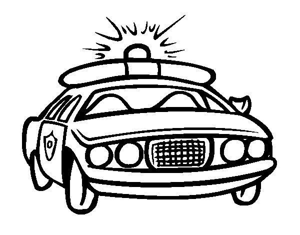 Desenho De Carro De Pol 237 Cia Para Colorir Colorir Com