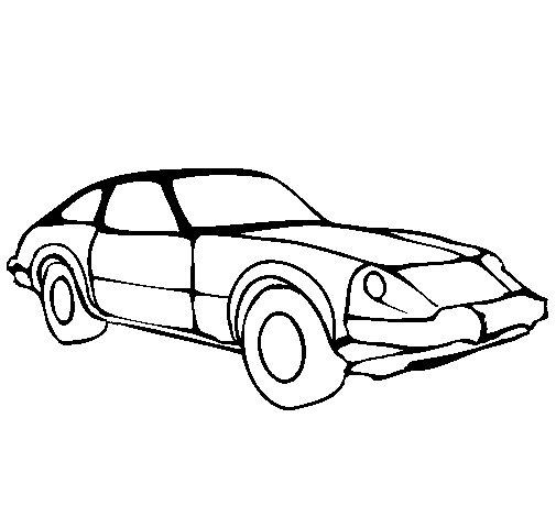 Desenho de Carro desportivo para Colorir
