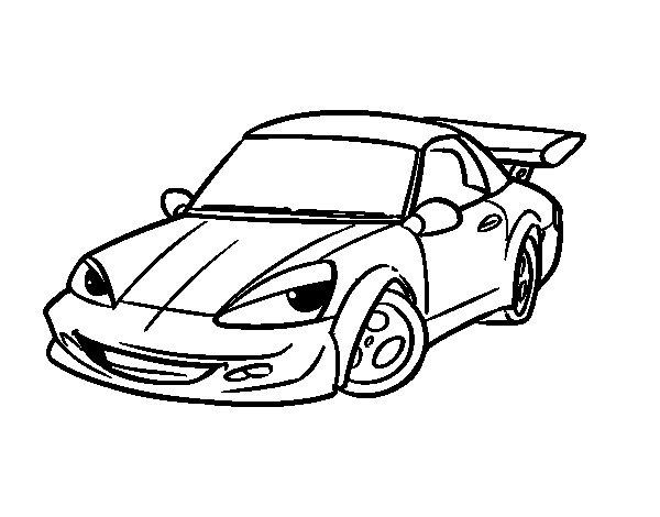 Desenho de Carro desportivo com aileron para Colorir