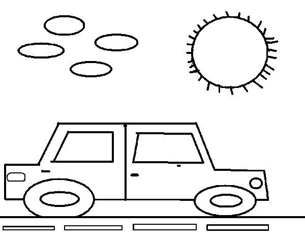 Desenho de Carro quadrado para Colorir