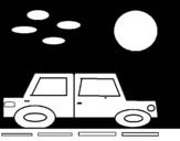 Desenho de Carro quadrado para colorear