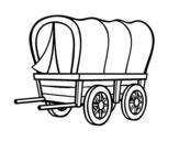 Desenho de Carro velho oeste para colorear