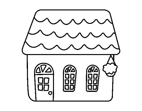 Desenho de casa de conto para colorir - Para pintar casas ...
