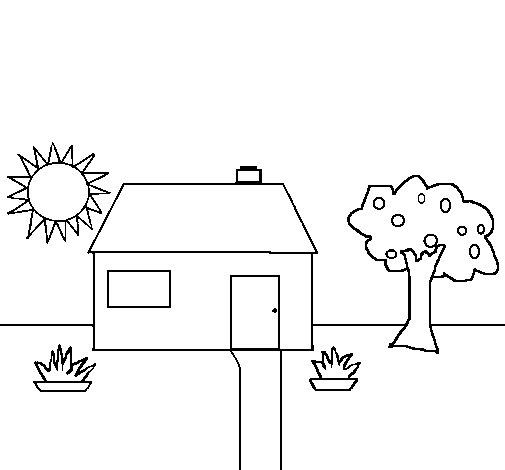 Desenho de casa v para colorir - Para pintar casas ...