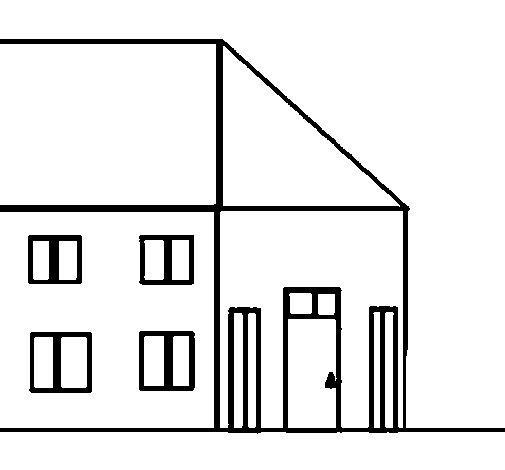Desenho de Casinha para Colorir