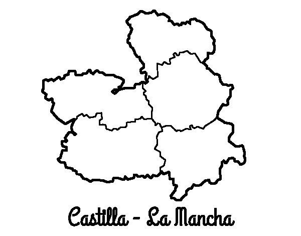 Desenho de Castela-Mancha para Colorir