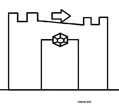 Desenho de Castelo para Colorir