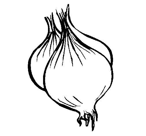 Desenho de Cebola para Colorir