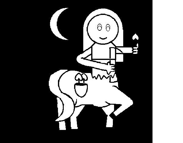 Desenho de Centauro pequeno para Colorir