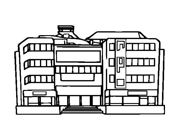 Desenho de Centro comercial para Colorir