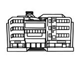 Desenho de Centro comercial para colorear