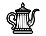 Desenho de Chaleira  para colorear