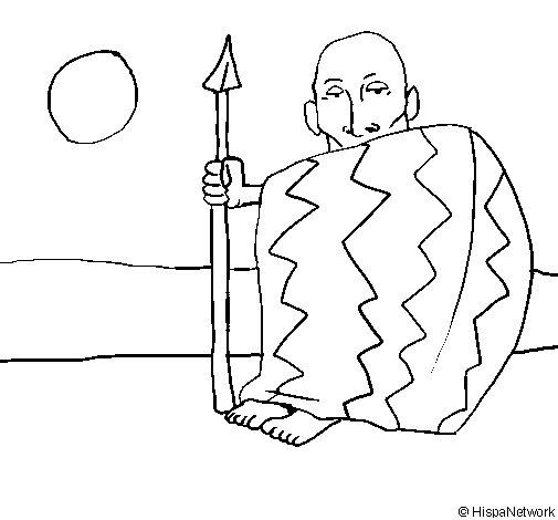 Desenho de Chefe angolano para Colorir