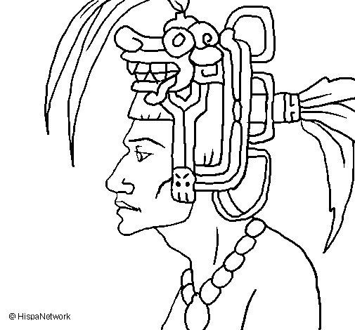 Desenho de Chefe da tribo para Colorir