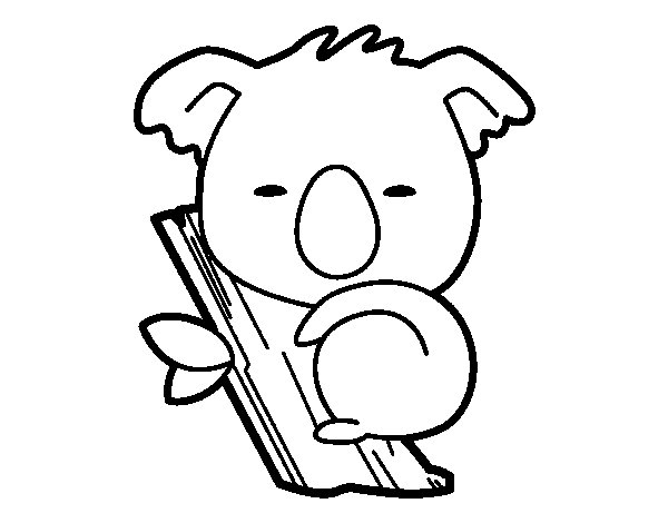 Desenho de Coala bebé para Colorir