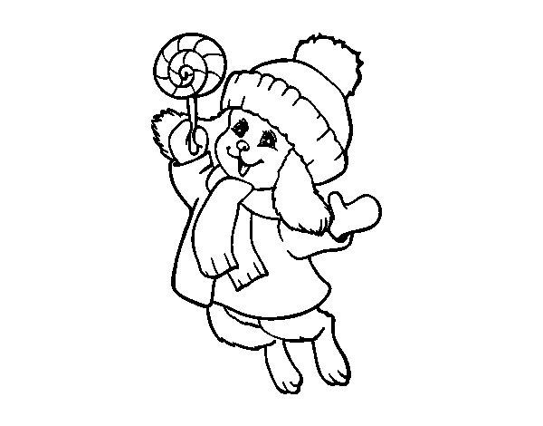 Desenho de Coelho quente para Colorir