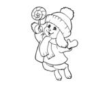 Desenho de Coelho quente para colorear