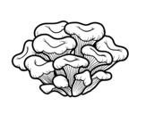 Desenho de Cogumelo maitake para colorear