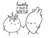 Desenho de Comida saudável para colorear