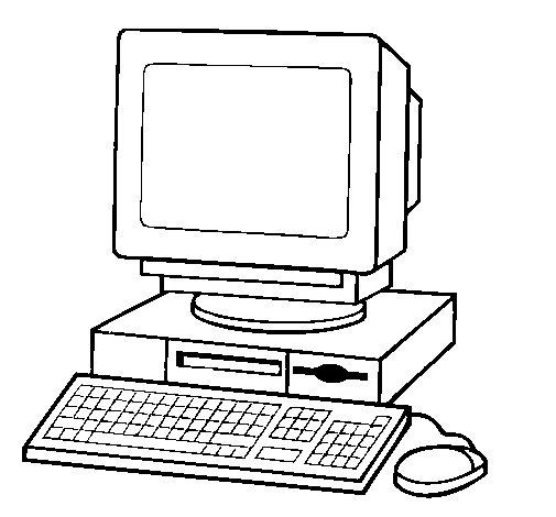 Desenho de Computador 2 para Colorir