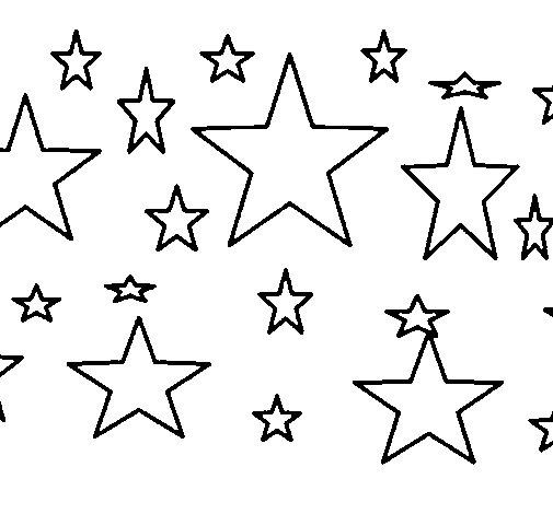 Desenho de Conjunto de estrelas para Colorir